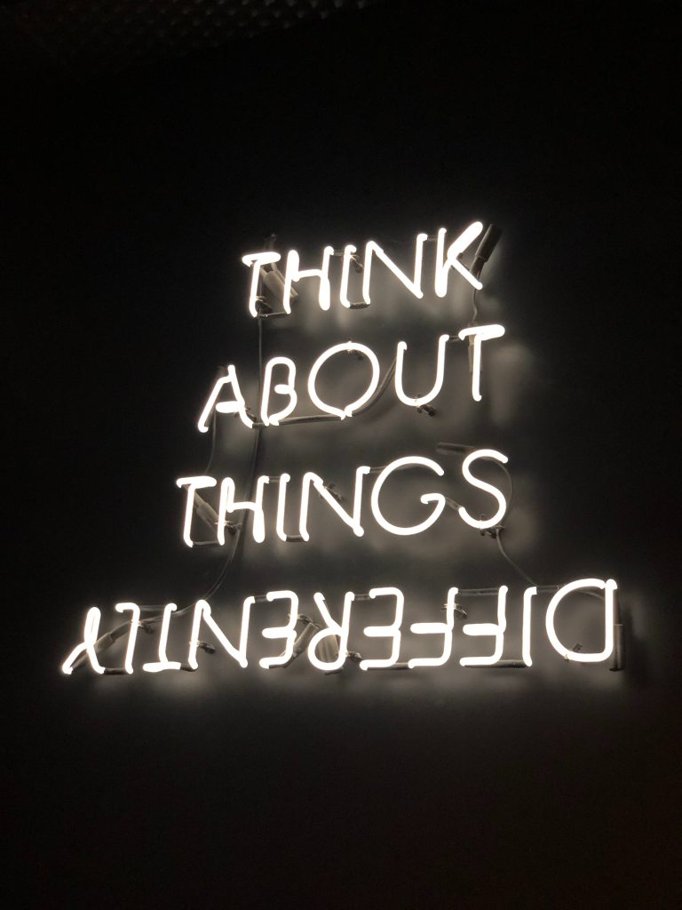 Neon Sign - Think About Things Differently