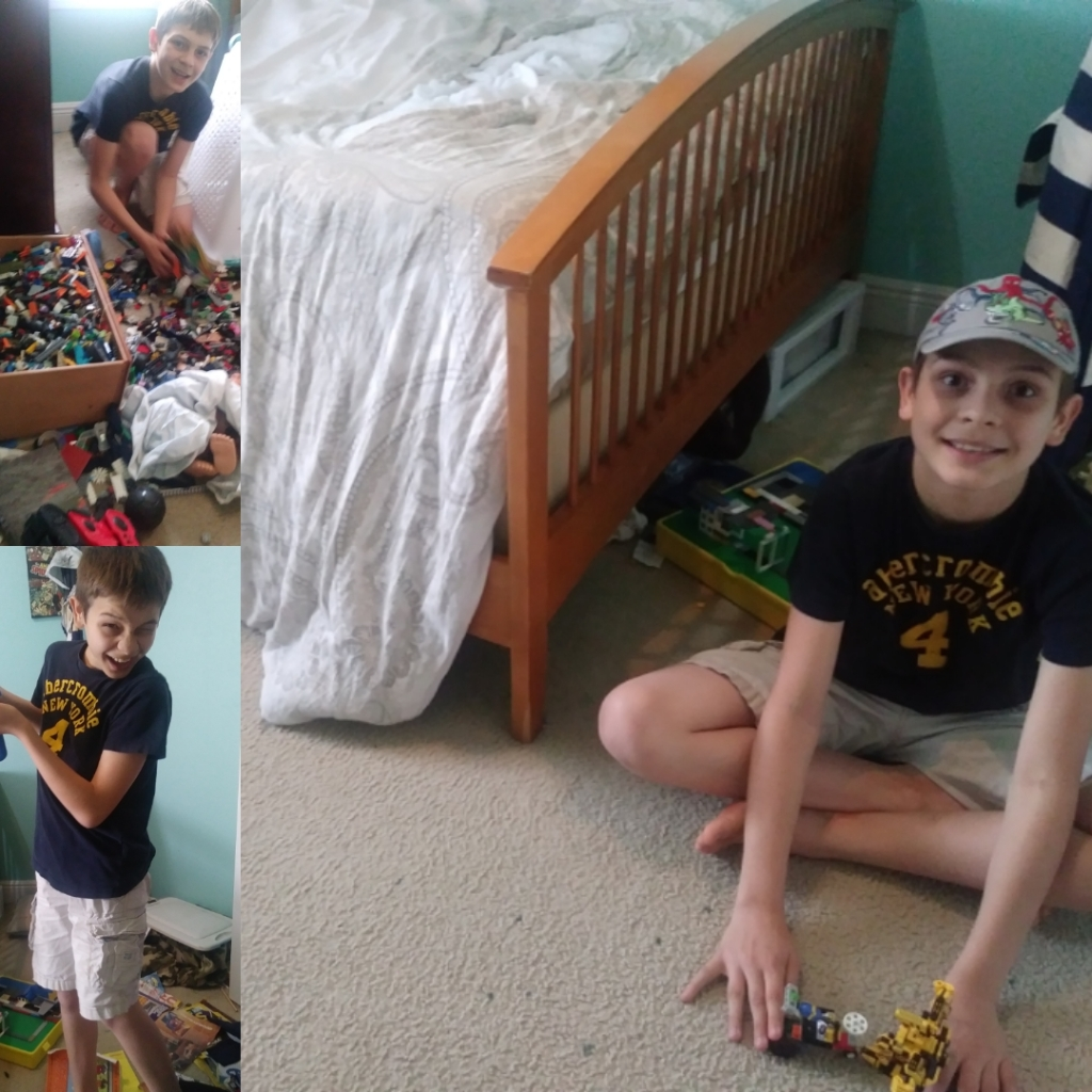 Before and after: messy room to clean room and ready to play